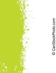 綠色, grunge, splat