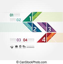 網站, 是, 風格, 使用, 布局, 矢量, 現代, 線, /, 或者, 旗幟, infographic, 設計, 編號, 樣板, infographics, 圖表, cutout, 水平, 最小, 罐頭
