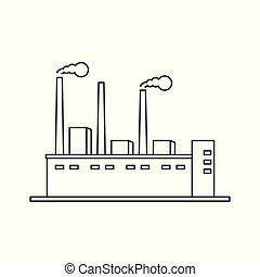 線, 矢量, 工廠, 圖象