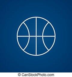 線, 籃球, icon., 球