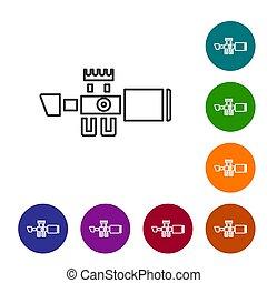 線, 顏色, 白色, crosshairs., 集合, 狙擊手, 光學, 被隔离, 矢量, 圖象, 背景。, 范圍, 圖象, 視力, buttons., 環繞, 黑色