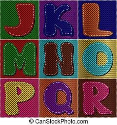 編織, 剪貼簿, 補綴品, 字母表