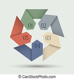 編號, origami, 旗幟, 紙