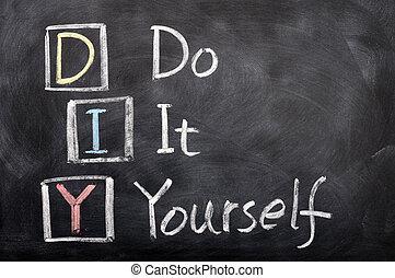 縮寫, 它, diy, 你自己