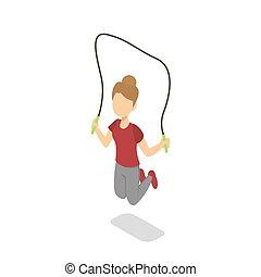 繩子, 跳, 學校, 跳躍, 女孩