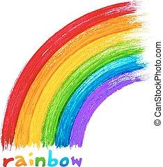 繪, 丙烯酸, 矢量, 圖像, 彩虹