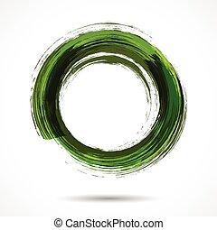 繪, 水彩, 綠色, 刷子, 新鮮, 戒指