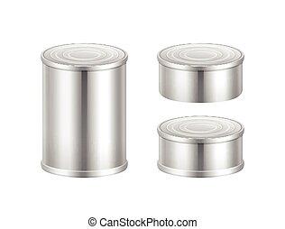 罐裝, 矢量, 集合, 貨物