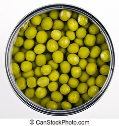 罐裝, 綠色的豌豆