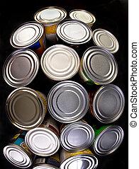 罐裝, 食物。