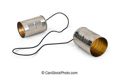 罐頭能, 電話
