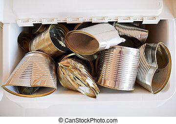 罐頭, 再循環, 背景, 金屬