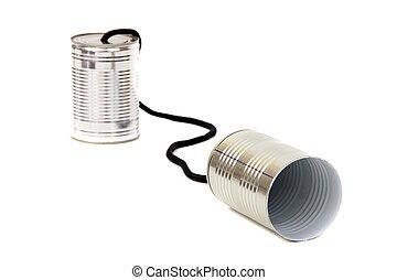 罐頭, 電話