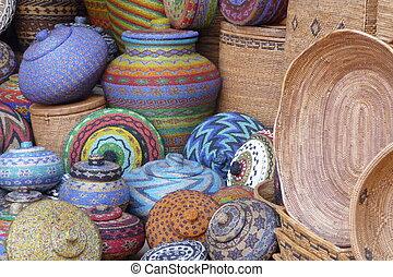 罐, 籃, bali, 工匠