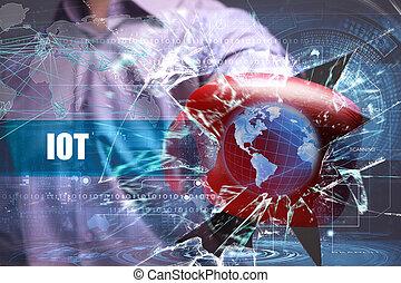 网絡, security., 因特網商業, iot, 技術