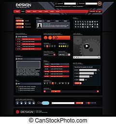 网設計, 樣板, 元素