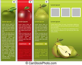 网頁, 新鮮的水果, 樣板, 主題