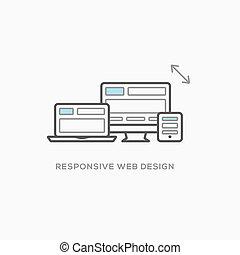网, 敏感, 插圖, 設計