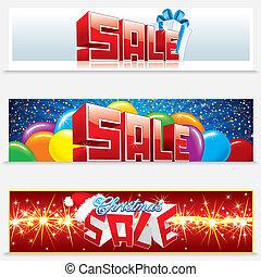网, 旗幟, 聖誕節, 銷售