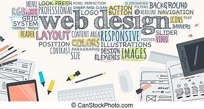 网, 概念, 設計