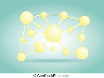 网, 氣泡, 摘要, 矢量, 設計