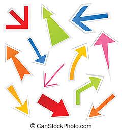 网, 箭, 插圖, 矢量, 彙整, design.