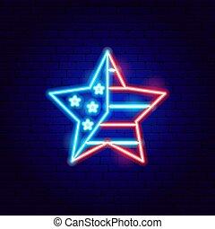 美國, 星, 氖徵候