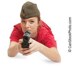 美麗的婦女, 帽子, 年輕, 矯柔造作, 駐軍