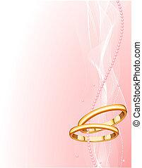 美麗, 戒指, 背景, 婚禮