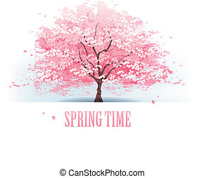 美麗, 櫻桃樹, 花