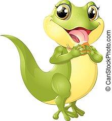 美麗, 蜥蜴, 綠色