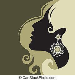 美麗, 頭髮, 女孩