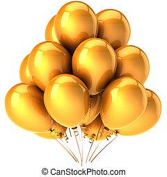 美麗, 黨, 气球, 黃金