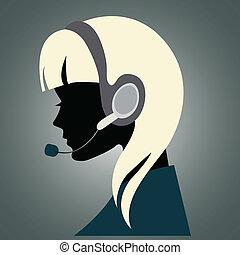 耳機, 女孩
