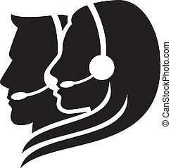耳機, 符號, headset), (women