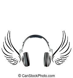 耳機, 飛行, 機翼