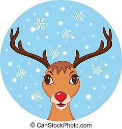 聖誕節, 漂亮, 馴鹿