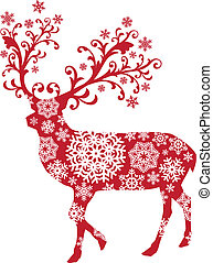 聖誕節, 矢量, 鹿