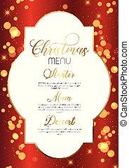 聖誕節, 設計, 菜單