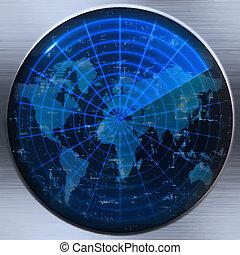 聲納, 世界地圖, 或者, 雷達