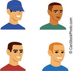 肖像, 人, avatar, 卡通
