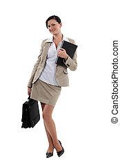 肖像, 有吸引力, 從事工商業的女性