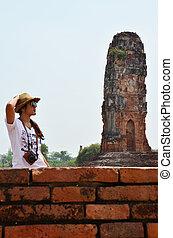 肖像, 泰國, 攝影, 婦女