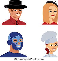 肖像, 老一套, avatar, 系列