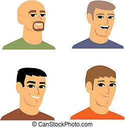 肖像, avatar, 卡通, 插圖