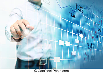股票, chart., 交換