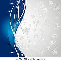 背景。, 冬天, 銀, 摘要