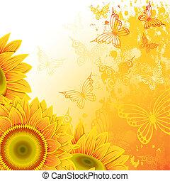 背景, 向日葵