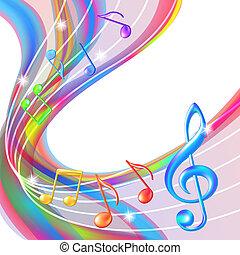 背景。, 摘要, 音樂 注意, 鮮艷