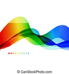 背景。, 摘要, wave., 鮮艷, 光譜